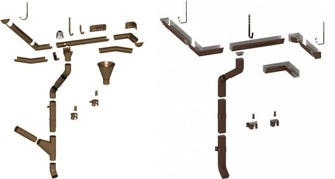 Схема водосточных систем